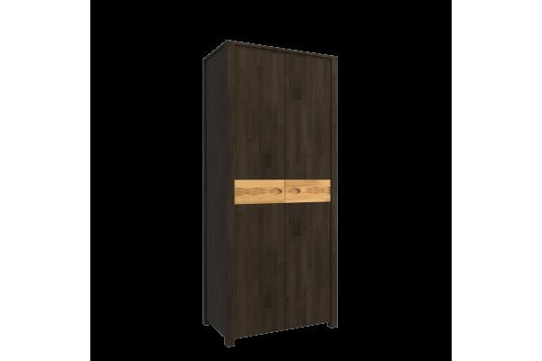 Шкаф двухстворчатый для одежды Фьюжн Блэк